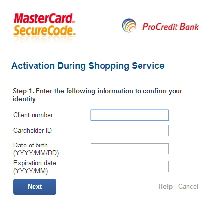 3D Security - ProCredit Bank